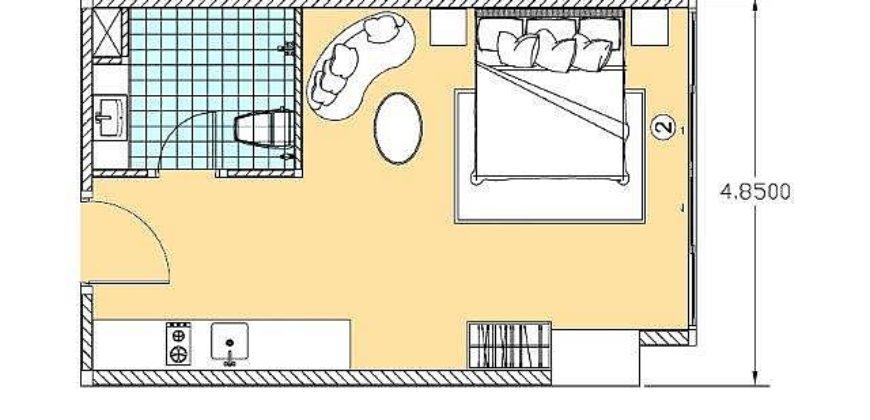 Студия, Северная Паттайя, 8 этаж, 32 м2